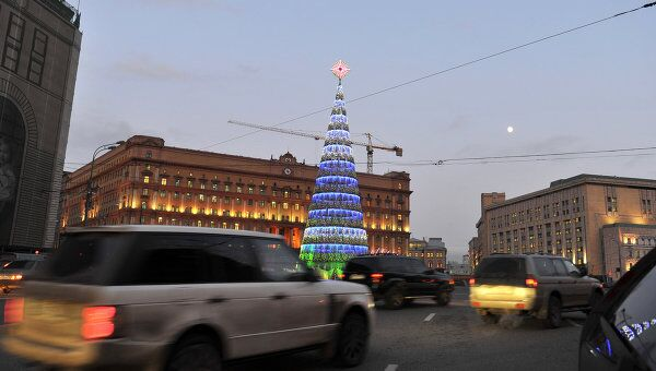Новогодние елки в Москве