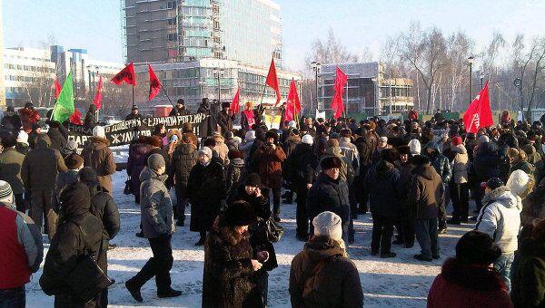 Акция российских граждан За справедливые выборы в Новосибирске