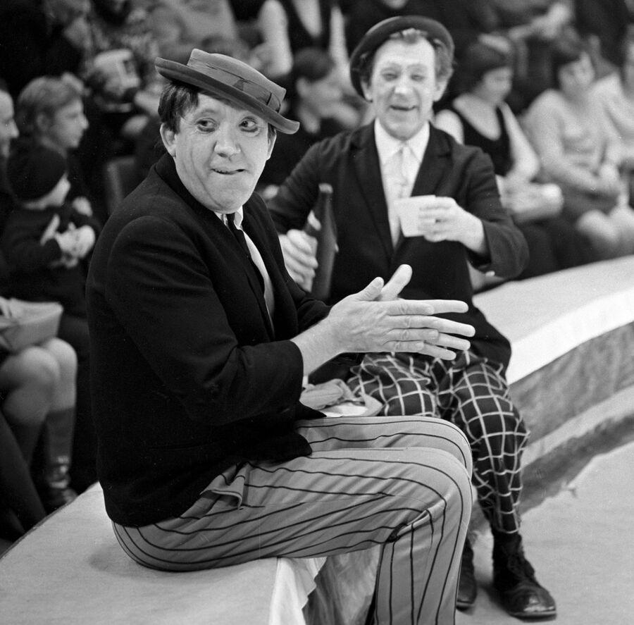 Юрий Никулин и Михаил Шуйдин 1 августа 1972 года