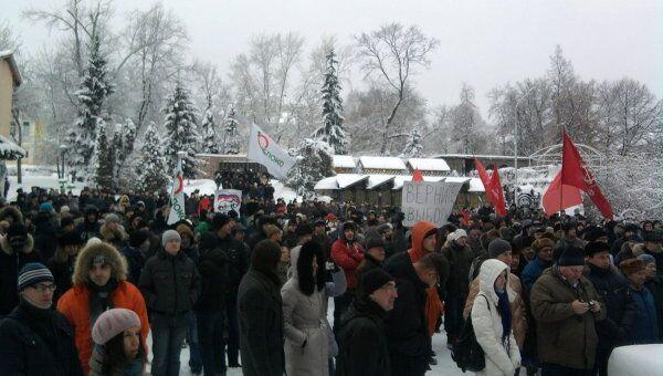 Митинг несогласных с результатами выборов в Госдуму в Пензе 10 декабря