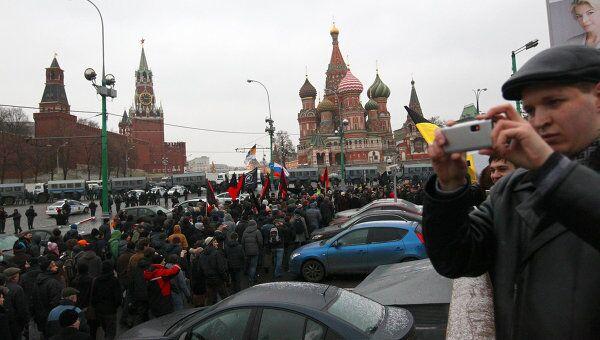Акция протеста на Площади Революции в Москве