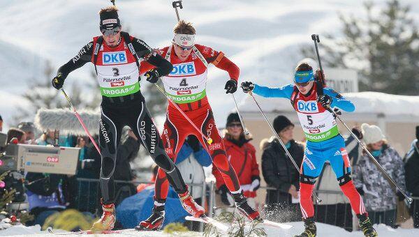Бенджамин Вегер, Эмиль Хегле Свендсен и Евгений Устюгов (слева направо)