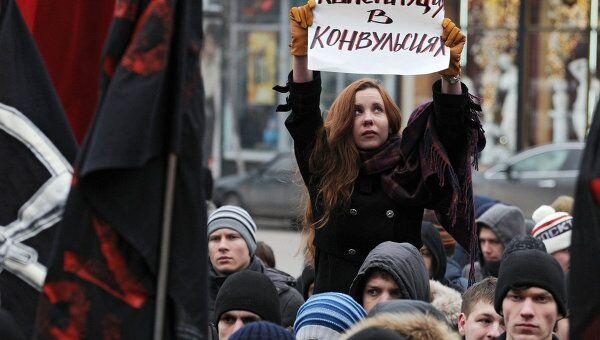 Акция протеста против фальсификации выборов в Воронеже