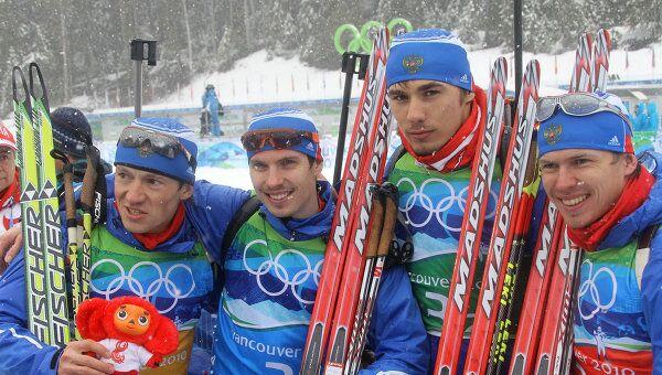 Олимпиада - 2010. Биатлон. Мужчины. Эстафета 4х7,5 км