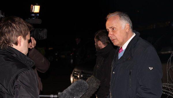 Посол РФ в Сербии Александр Конузин делает заявление для СМИ