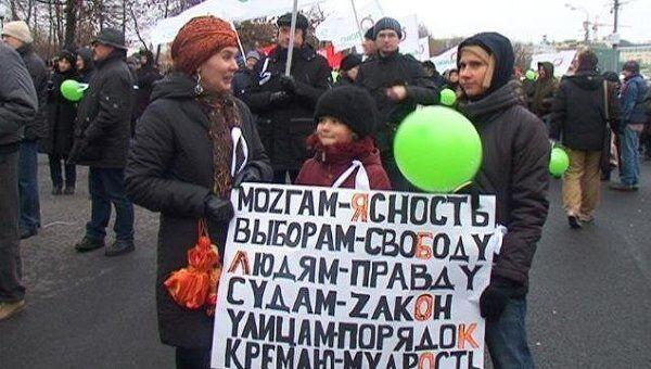 Общегражданский митинг За честные выборы. Видео с Болотной площади