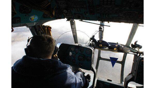 В кабине пилота. Вертолет МИ-8