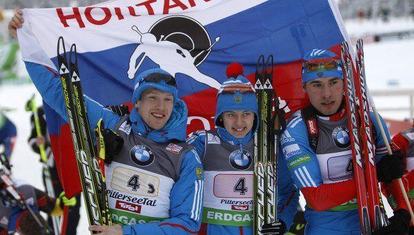Алексей Волков, Ольга Вилухина и Антон Шипулин (слева направо)