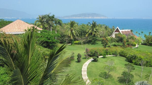 Вид на побережье китайского острова Хайнань