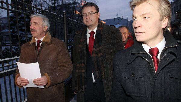 Григорий Костусев, Алексей Михалевич и Виталий Рымашевский - экс-кандидаты в президенты Белоруссии