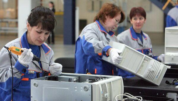 Завод по промышленной сборке компьютеров