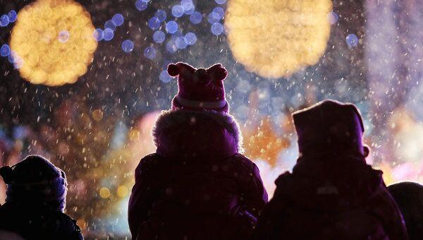Дети на рождественском концерте на Дворцовой площади