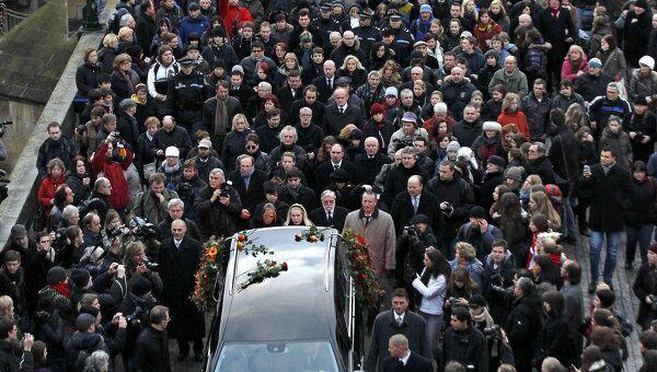 Прощание с экс-президентом Чехии Вацлавом Гавелом