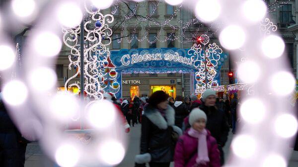 Начало работы Рождественской ярмарки в Санкт-Петербурге
