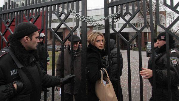 Дочь экс-премьера Украины Юлии Тимошенко Евгения у здания Апелляционного суда Киева, где рассматривается апелляция Юлии Тимошенко на приговор по газовому делу