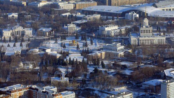 Вид Москвы с Останкинской телебашни. Архив