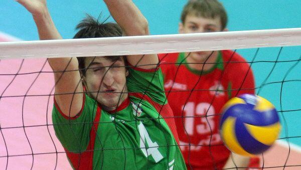 Игровой момент матча Белогорье - Локомотив
