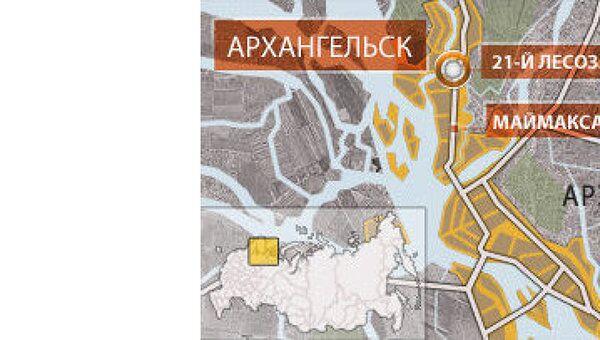 Одиннадцать человек пострадали в крупном ДТП в Архангельске