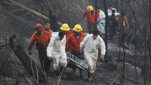 Шесть человек погибли в Чили при тушении лесного пожара