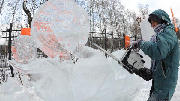 Изготовление ледяных фигур. Архив