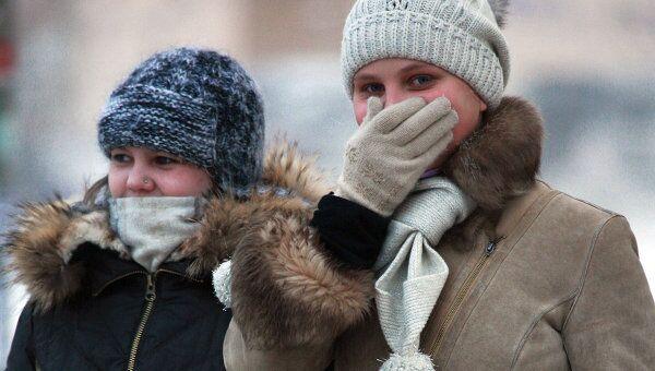 Сильный мороз в Перми
