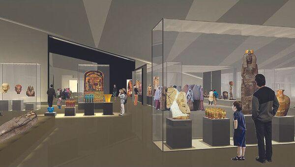 Проект одного из залов Большого египетского музея