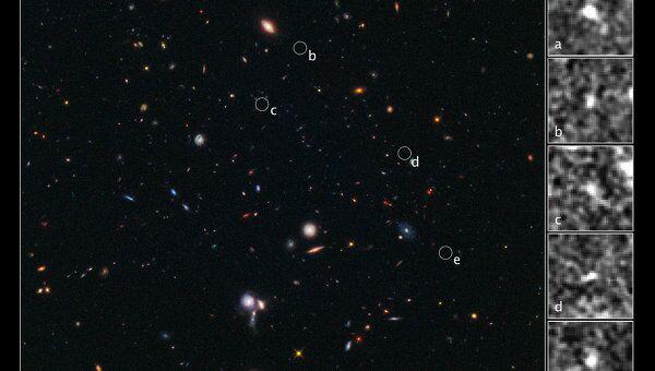 Протоскопление галактик BoRG 58, обнаруженное телескопом Хаббл