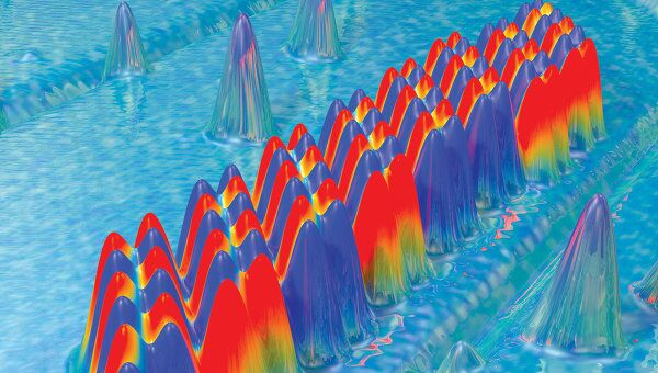 Массив из 96 атомов, содержащий один байт информации