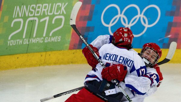 Хоккеисты юношеской сборной России. Архивное фото