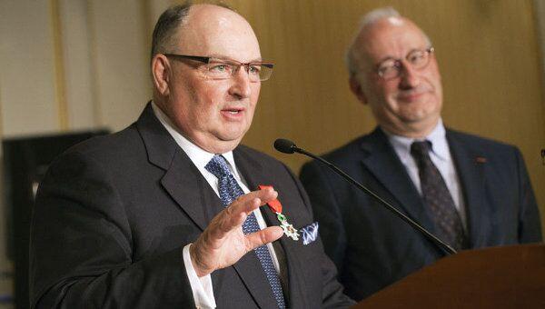 Президент Европейского еврейского конгресса Вячеслав Кантор награжден французским орденом Почетного легиона