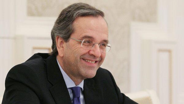 Председатель греческой политической партии Новая демократия Антонис Самарас