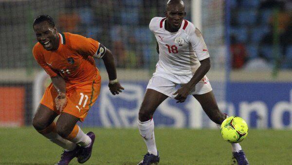 Игровой момент матча Кот-д'Ивуар - Буркина-Фасо