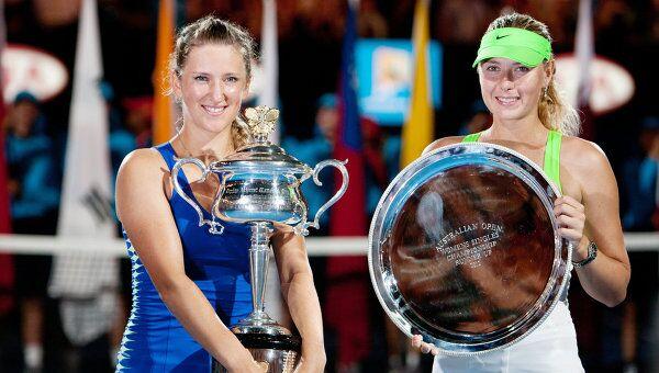 Виктория Азаренко и Мария Шарапова (слева направо)