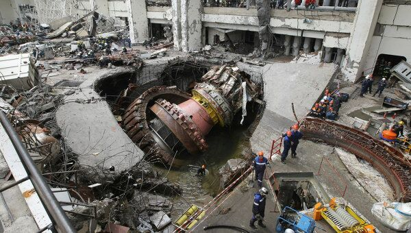 Разбор завалов на Саяно-Шушенской ГЭС. Архив