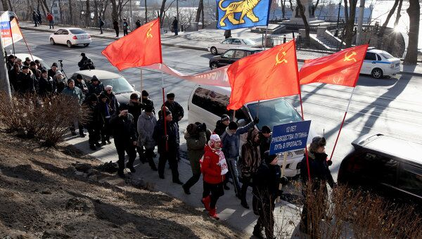 Митинги во Владивостоке. Архив