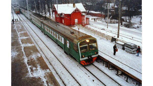 Снегопад не повлиял на работу Московской железной дороги
