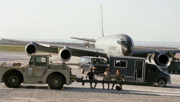 Американская военная база в Киргизии.