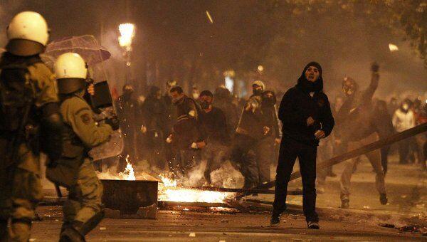 Беспорядки в Греции