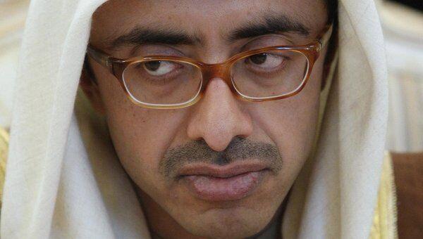 Глава МИД ОАЭ шейх Абдулла бин Зайед Аль Нахаян на встрече с Сергеем Лавровым в Москве
