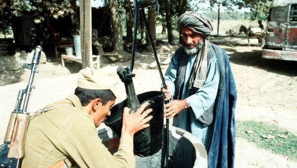 Советский солдат в Афганистане