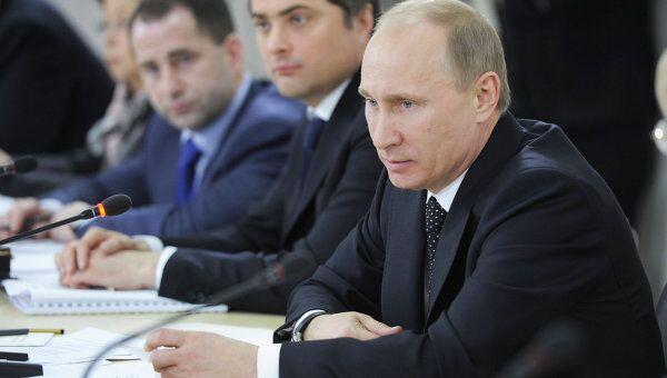 Премьер-министр РФ В.Путин провел совещание по вопросу демографической политики и модернизации здравоохранения
