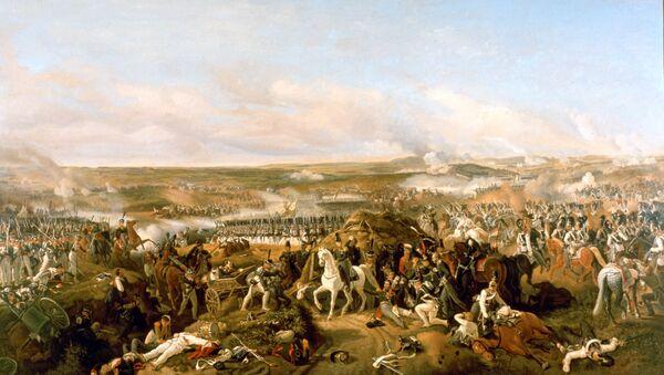 Репродукция картины Бородинское сражение