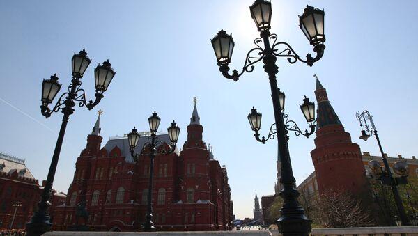 Вид на Государственный Исторический музей и Кремль