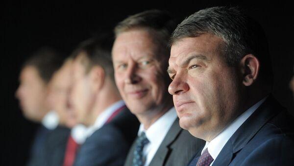 Анатолий Сердюков и Сергей Иванов посетили Российскую выставку вооружения. Нижний Тагил – 2011