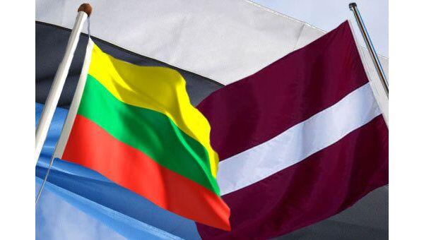 Флаги Эстонии, Литвы и Латвии
