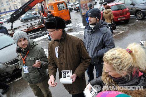 Владимир Рыжков на акции оппозации в Москве