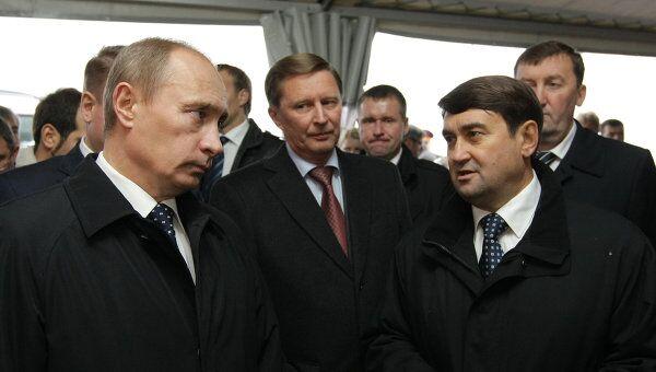 Премьер-министр РФ В.Путин на открытии участка автомобильной трассы аэропорт Храброво – Калининград