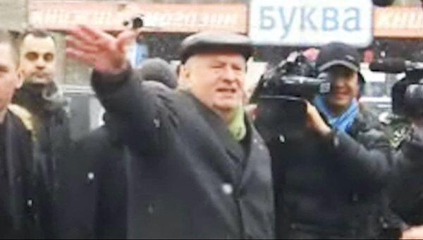 Владимир Жириновский прибыл на Садовое кольцо во время флешмобов
