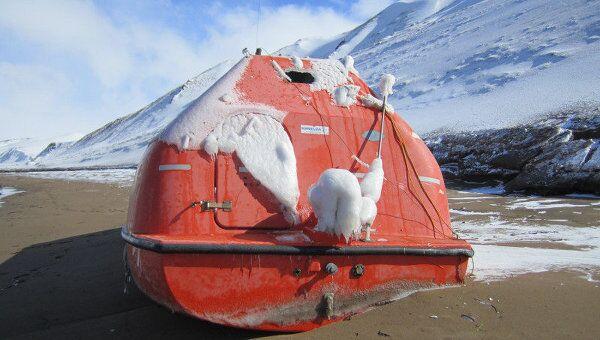 Бот с платформы Кольская, найденный на острове Уруп