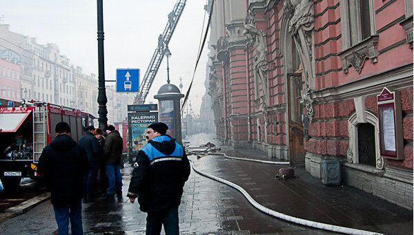 Пожар в дворце Белосельских-Белозерских. Ликвидация пожара в